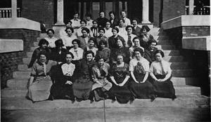 Primary view of object titled 'Students at Phillips University'.