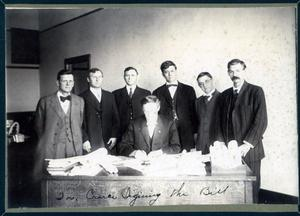 Primary view of object titled 'Governor Lee Cruce Signing a Bill'.
