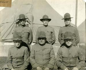 Primary view of object titled 'Group of Soldiers at Camp Bowie'.