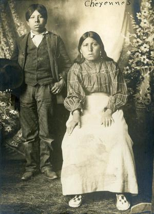 Primary view of object titled 'Bert Littleman and Ada Bighawk, Cheyenne'.