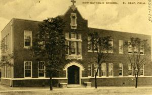 Primary view of object titled 'New Catholic School in El Reno'.