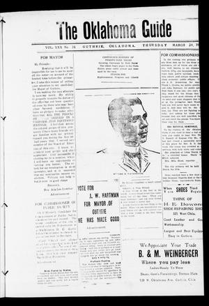 Primary view of The Oklahoma Guide (Guthrie, Okla.), Vol. 30, No. 24, Ed. 1 Thursday, March 24, 1921