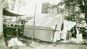 Tent City at Cherokee Strip Parade, Enid