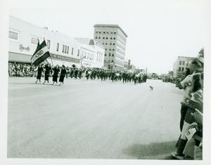Enid High School Band in a Parade