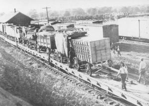 Primary view of object titled 'Campbell Brothers Circus feed wagons'.