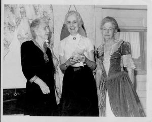 Primary view of object titled 'Mrs. Frank Hamilton, Mrs. Eugene Briggs, and Mrs. S.N. Mayberry'.