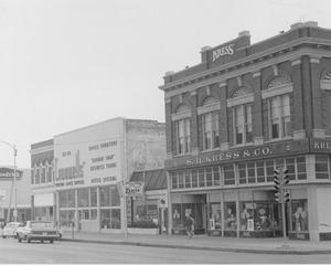Primary view of object titled 'Kress Building, Zenith Hearing Aids, Cromwell's Office Supplies, Enid, Oklahoma'.