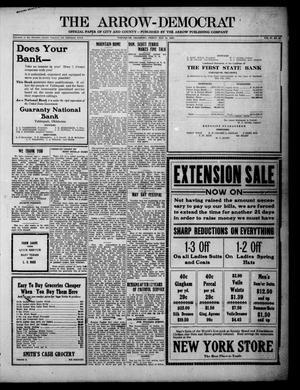 Primary view of The Arrow-Democrat (Tahlequah, Okla.), Vol. 37, No. 23, Ed. 1 Friday, May 14, 1920