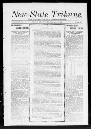 Primary view of object titled 'New-State Tribune. (Oklahoma City, Okla.), Vol. 17, No. 27, Ed. 1 Thursday, June 1, 1911'.