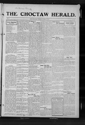 Primary view of The Choctaw Herald. (Hugo, Okla.), Vol. 6, No. 39, Ed. 1 Thursday, November 23, 1911
