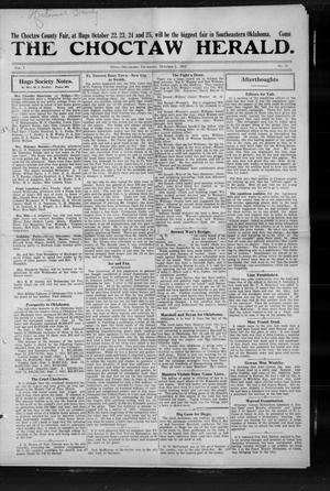 Primary view of object titled 'The Choctaw Herald. (Hugo, Okla.), Vol. 7, No. 23, Ed. 1 Thursday, October 3, 1912'.