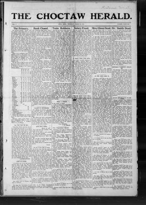 Primary view of object titled 'The Choctaw Herald. (Hugo, Okla.), Vol. 7, No. 46, Ed. 1 Thursday, March 20, 1913'.