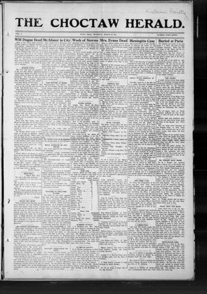 Primary view of object titled 'The Choctaw Herald. (Hugo, Okla.), Vol. 7, No. 47, Ed. 1 Thursday, March 27, 1913'.
