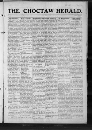 Primary view of object titled 'The Choctaw Herald. (Hugo, Okla.), Vol. 7, No. 49, Ed. 1 Thursday, April 10, 1913'.
