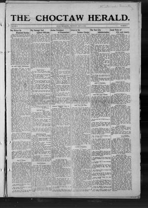 Primary view of object titled 'The Choctaw Herald. (Hugo, Okla.), Vol. 8, No. 1, Ed. 1 Thursday, May 8, 1913'.