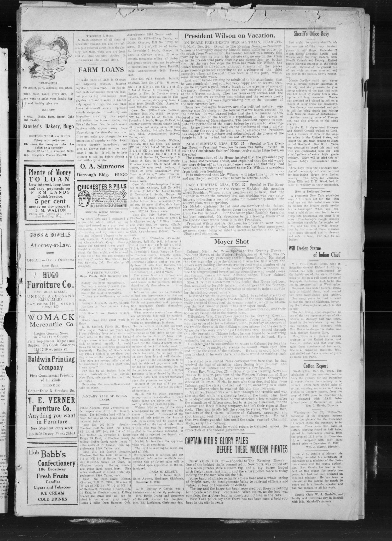 The Choctaw Herald. (Hugo, Okla.), Vol. 8, No. 40, Ed. 1 Thursday, January 1, 1914                                                                                                      [Sequence #]: 3 of 4