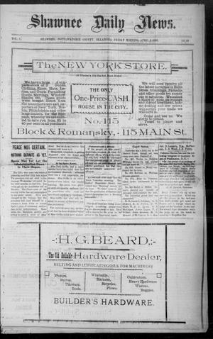 Primary view of Shawnee Daily News. (Shawnee, Okla.), Vol. 1, No. 53, Ed. 1 Friday, April 8, 1898