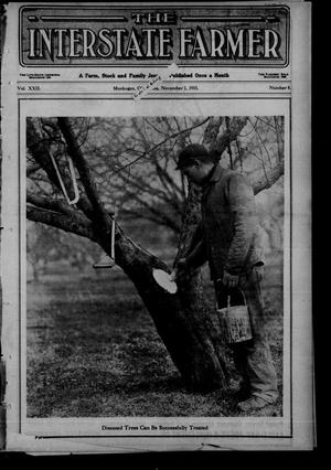 Primary view of object titled 'The Interstate Farmer (Muskogee, Okla.), Vol. 22, No. 8, Ed. 1 Monday, November 1, 1915'.