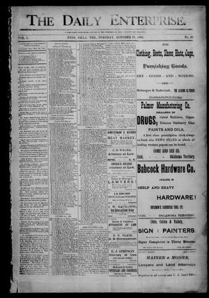 Primary view of object titled 'The Daily Enterprise. (Enid, Okla. Terr.), Vol. 1, No. 25, Ed. 1 Tuesday, October 17, 1893'.