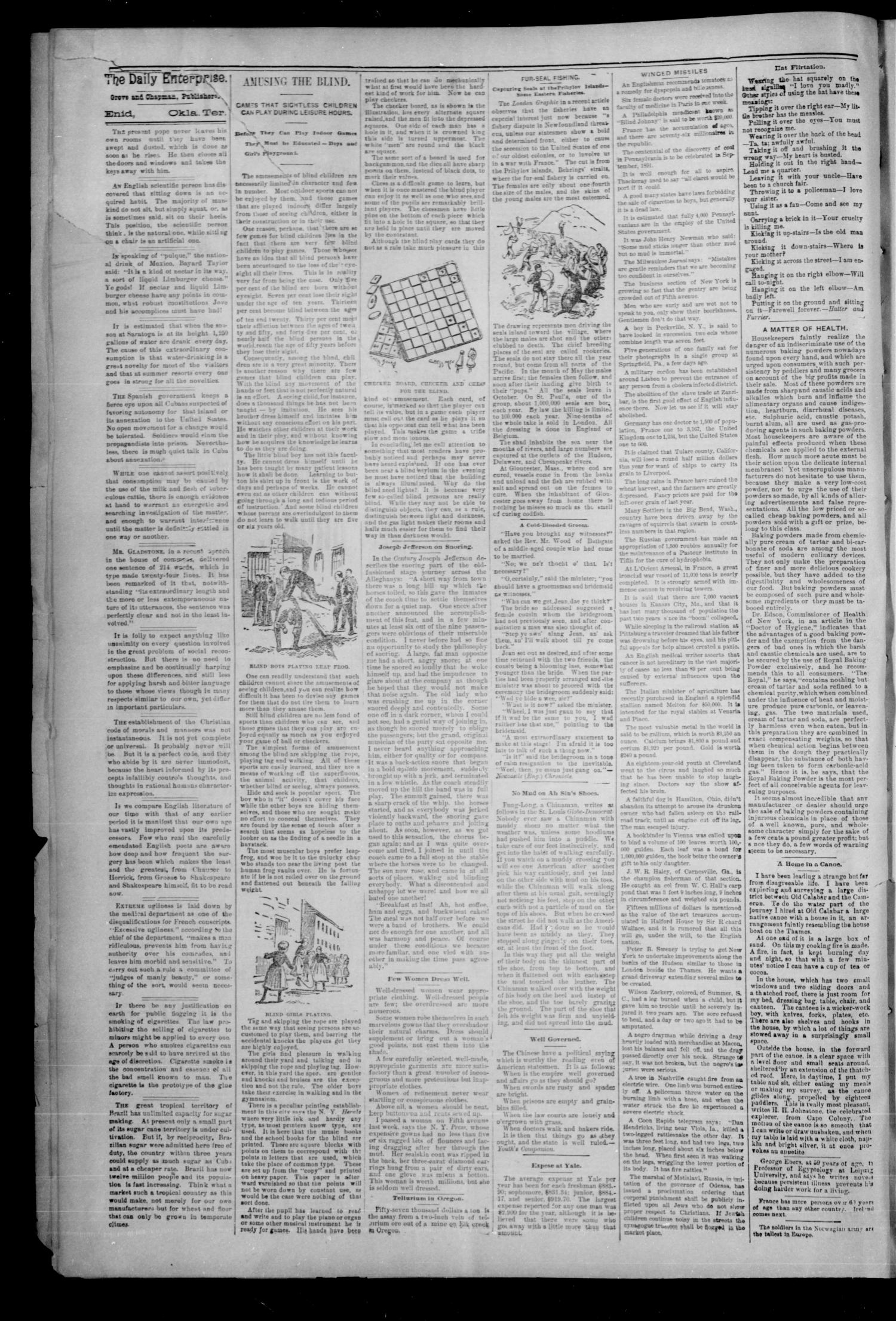 The Daily Enterprise. (Enid, Okla. Terr.), Vol. 1, No. 26, Ed. 1 Wednesday, October 18, 1893                                                                                                      [Sequence #]: 2 of 4