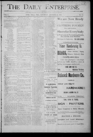 Primary view of object titled 'The Daily Enterprise. (Enid, Okla. Terr.), Vol. 1, No. 35, Ed. 1 Saturday, October 28, 1893'.