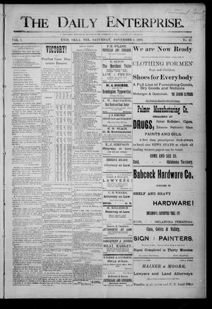 Primary view of object titled 'The Daily Enterprise. (Enid, Okla. Terr.), Vol. 1, No. 41, Ed. 1 Saturday, November 4, 1893'.