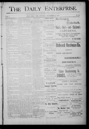 Primary view of object titled 'The Daily Enterprise. (Enid, Okla. Terr.), Vol. 1, No. 49, Ed. 1 Tuesday, November 14, 1893'.