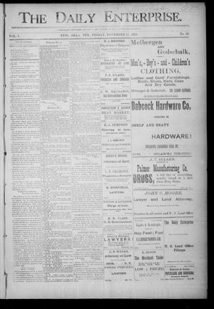 Primary view of object titled 'The Daily Enterprise. (Enid, Okla. Terr.), Vol. 1, No. 52, Ed. 1 Friday, November 17, 1893'.