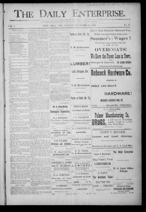Primary view of object titled 'The Daily Enterprise. (Enid, Okla. Terr.), Vol. 1, No. 54, Ed. 1 Sunday, November 19, 1893'.