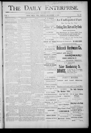Primary view of object titled 'The Daily Enterprise. (Enid, Okla. Terr.), Vol. 1, No. 69, Ed. 1 Friday, December 8, 1893'.