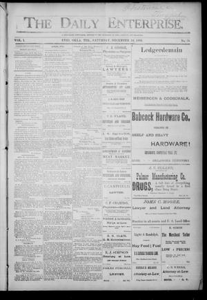 Primary view of object titled 'The Daily Enterprise. (Enid, Okla. Terr.), Vol. 1, No. 76, Ed. 1 Saturday, December 16, 1893'.