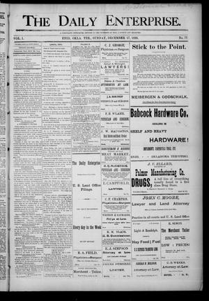 Primary view of object titled 'The Daily Enterprise. (Enid, Okla. Terr.), Vol. 1, No. 77, Ed. 1 Sunday, December 17, 1893'.
