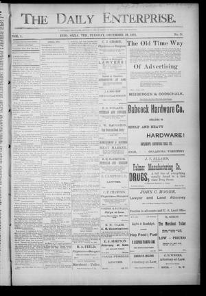 Primary view of object titled 'The Daily Enterprise. (Enid, Okla. Terr.), Vol. 1, No. 78, Ed. 1 Tuesday, December 19, 1893'.