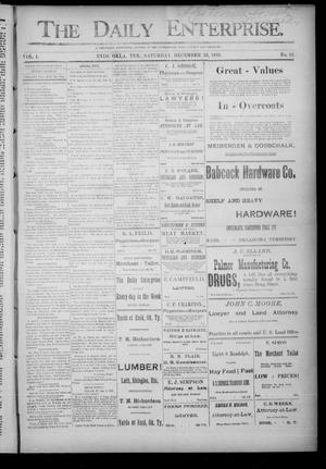 Primary view of object titled 'The Daily Enterprise. (Enid, Okla. Terr.), Vol. 1, No. 82, Ed. 1 Saturday, December 23, 1893'.