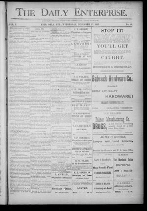 Primary view of object titled 'The Daily Enterprise. (Enid, Okla. Terr.), Vol. 1, No. 84, Ed. 1 Wednesday, December 27, 1893'.