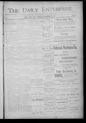 Primary view of The Daily Enterprise. (Enid, Okla. Terr.), Vol. 1, No. 86, Ed. 1 Friday, December 29, 1893