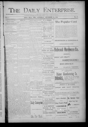 Primary view of object titled 'The Daily Enterprise. (Enid, Okla. Terr.), Vol. 1, No. 87, Ed. 1 Saturday, December 30, 1893'.
