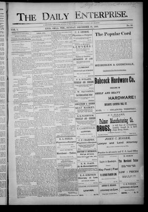 Primary view of object titled 'The Daily Enterprise. (Enid, Okla. Terr.), Vol. 1, No. 88, Ed. 1 Sunday, December 31, 1893'.