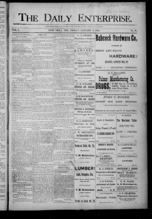 Primary view of object titled 'The Daily Enterprise. (Enid, Okla. Terr.), Vol. 1, No. 91, Ed. 1 Friday, January 5, 1894'.