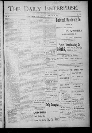 Primary view of object titled 'The Daily Enterprise. (Enid, Okla. Terr.), Vol. 1, No. 93, Ed. 1 Sunday, January 7, 1894'.