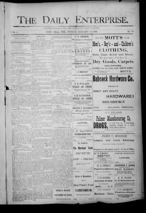 Primary view of object titled 'The Daily Enterprise. (Enid, Okla. Terr.), Vol. 1, No. 99, Ed. 1 Sunday, January 14, 1894'.