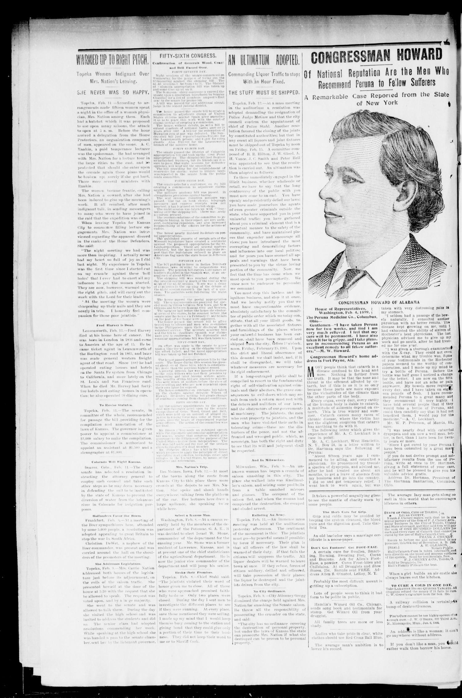 The Press-Democrat. (Hennessey, Okla.), Vol. 9, No. 20, Ed. 1 Friday, February 15, 1901                                                                                                      [Sequence #]: 2 of 10
