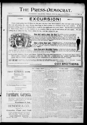 Primary view of object titled 'The Press-Democrat. (Hennessey, Okla.), Vol. 9, No. 42, Ed. 1 Friday, July 19, 1901'.