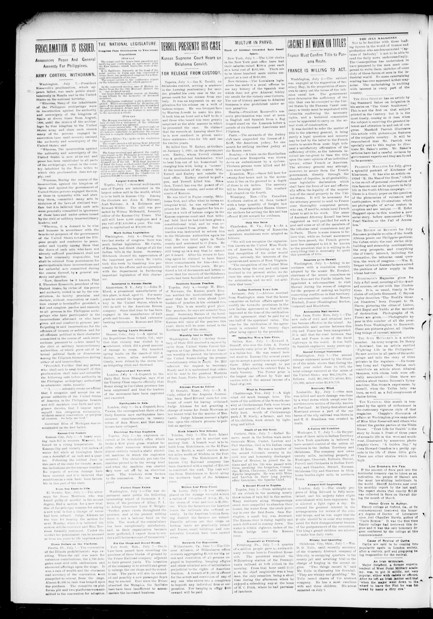 The Press-Democrat. (Hennessey, Okla.), Vol. 10, No. 41, Ed. 1 Friday, July 11, 1902                                                                                                      [Sequence #]: 2 of 8