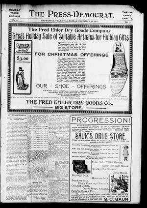 Primary view of object titled 'The Press-Democrat. (Hennessey, Okla.), Vol. 11, No. 11, Ed. 2 Friday, December 12, 1902'.
