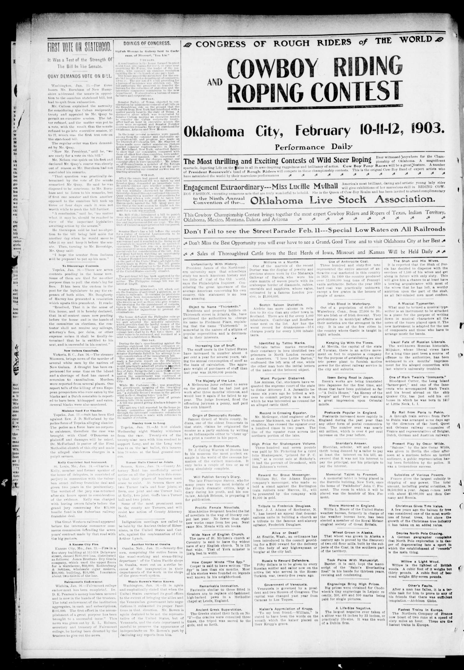 The Press-Democrat. (Hennessey, Okla.), Vol. 11, No. 18, Ed. 1 Friday, January 30, 1903                                                                                                      [Sequence #]: 2 of 10