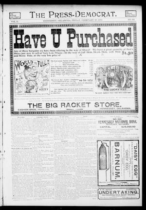 Primary view of object titled 'The Press-Democrat. (Hennessey, Okla.), Vol. 11, No. 22, Ed. 1 Friday, February 27, 1903'.