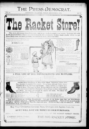 Primary view of object titled 'The Press-Democrat. (Hennessey, Okla.), Vol. 12, No. 11, Ed. 1 Friday, December 11, 1903'.