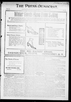 Primary view of object titled 'The Press-Democrat. (Hennessey, Okla.), Vol. 13, No. 21, Ed. 1 Friday, February 17, 1905'.