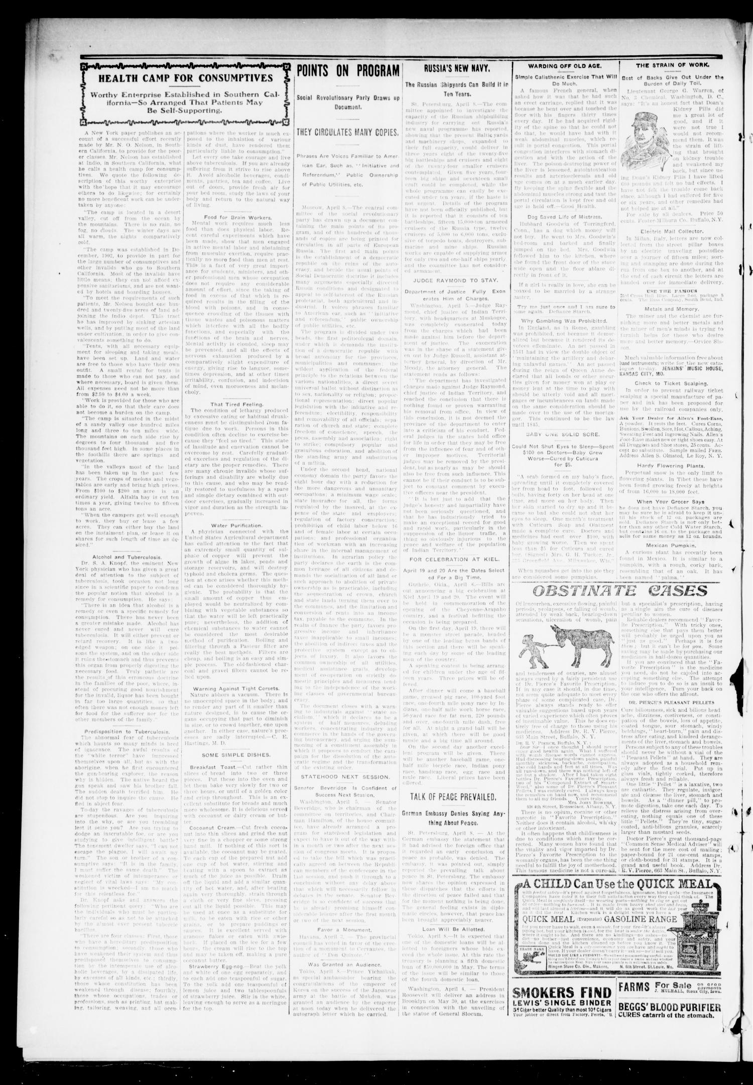 The Press-Democrat. (Hennessey, Okla.), Vol. 13, No. 29, Ed. 1 Friday, April 14, 1905                                                                                                      [Sequence #]: 2 of 8